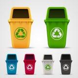 Grupo ecológico do lixo Fotos de Stock Royalty Free