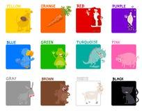 Grupo educacional das cores básicas ilustração royalty free