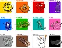 Grupo educacional das cores principais ilustração do vetor