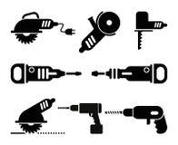 Grupo elétrico do ícone do vetor das ferramentas Imagem de Stock