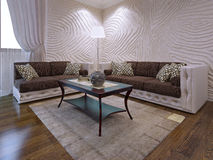 Grupo elegante da mobília da sala de visitas Fotos de Stock Royalty Free