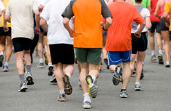 Grupo en la raza de pie Fotos de archivo