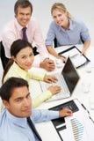 Grupo en la reunión de negocios Imágenes de archivo libres de regalías