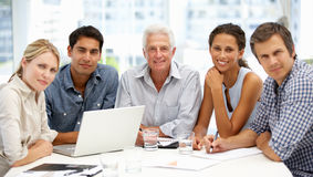 Grupo en la reunión de negocios Imagen de archivo libre de regalías