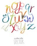 Grupo engraçado da aquarela das letras do alfabeto do ABC Imagens de Stock Royalty Free