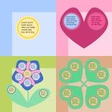 Grupo engraçado do infographics Imagem de Stock