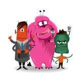 Grupo engraçado do monstro dos desenhos animados de Dia das Bruxas Ilustração do vetor Imagens de Stock
