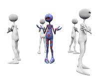 Grupo enojado. ilustración del vector