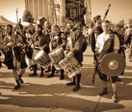 Grupo escocês na banda desenhada de Lucca e nos jogos 2014 fotos de stock royalty free