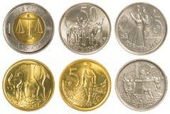 grupo etíope da coleção de moedas do birr Imagens de Stock Royalty Free