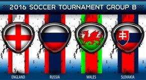 Grupo euro B del fútbol Foto de archivo libre de regalías