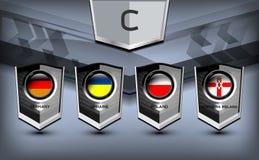 Grupo euro C del fútbol Imágenes de archivo libres de regalías
