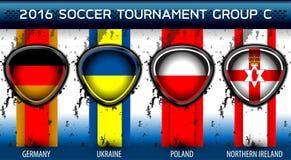 Grupo euro C del fútbol Fotos de archivo