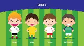Grupo EURO c del fútbol Imagen de archivo libre de regalías
