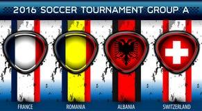 Grupo euro A del fútbol Fotos de archivo libres de regalías