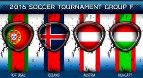 Grupo euro F del fútbol Fotos de archivo libres de regalías