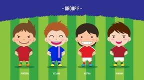 Grupo EURO F del fútbol Imagen de archivo libre de regalías