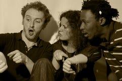 Grupo expresivo y divertido Foto de archivo libre de regalías