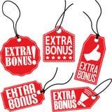 Grupo extra da etiqueta do bônus, ilustração do vetor Imagem de Stock Royalty Free