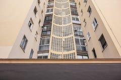 Grupo för bostads- byggnader för arkitekturdetalj las Torres vid VI Arkivfoto