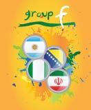 Grupo F de la taza de mundo Foto de archivo libre de regalías