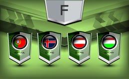 Grupo F del fútbol Foto de archivo