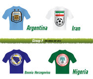 Grupo F del mundial 2014 del Fifa Fotografía de archivo libre de regalías