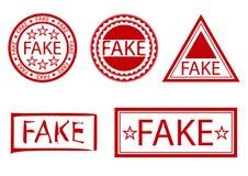 Grupo falsificado do selo ilustração royalty free