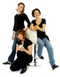 Grupo feliz de amigos Fotografia de Stock
