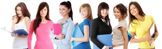 Grupo feliz de estudantes fotografia de stock