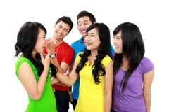 Grupo feliz del adolescente Imágenes de archivo libres de regalías