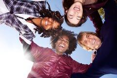 Grupo feliz del amigo Imagenes de archivo