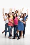 Grupo feliz do divertimento de amigos Fotos de Stock
