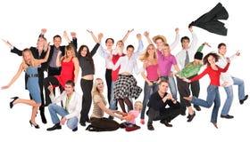 Grupo feliz dos povos Imagem de Stock