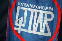 Grupo feminista noruego Kvinnegruppa Ottar Imágenes de archivo libres de regalías