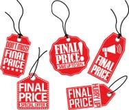 Grupo final do preço, ilustração do vetor Imagem de Stock Royalty Free