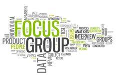 Grupo foco da nuvem da palavra ilustração do vetor