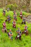 Grupo folclórico ecuatoriano Fotografía de archivo libre de regalías