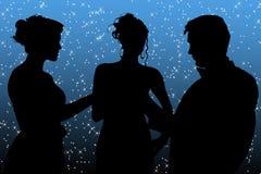 Grupo formal sobre a constelação fotografia de stock royalty free