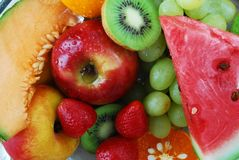 Grupo fresco colorido de frutos imagens de stock