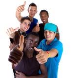 Grupo fresco joven de adolescencias Fotos de archivo