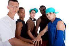 Grupo fresco joven de adolescentes de la cadera. Fotos de archivo