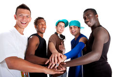 Grupo fresco joven de adolescentes de la cadera. Fotografía de archivo libre de regalías