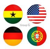 Grupo G - los E.E.U.U., Ghana, Alemania, Portugal libre illustration