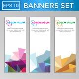 Grupo geométrico abstrato de bandeiras Imagem de Stock Royalty Free