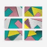 Grupo geométrico do teste padrão do pop art colorido da tendência Imagem de Stock Royalty Free