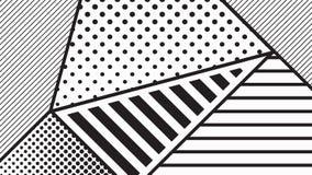 grupo geométrico do teste padrão do pop art da tendência Imagens de Stock Royalty Free