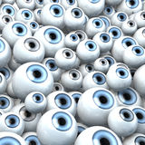 Grupo gigante de ojos que mira fijamente en el cielo ilustración del vector