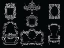Grupo glamoroso de Rich Baroque Rococo Furniture ilustração do vetor