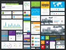 Grupo gráfico limpo & moderno da interface de utilizador Imagens de Stock Royalty Free